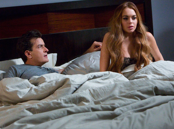 Charlie Sheen and Lindsey Lohan