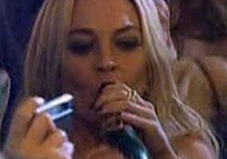 Lindsay Lohan Drinking