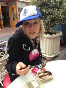GiGi Eating Sardines