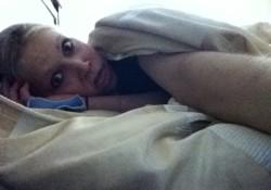GiGi tired in bed