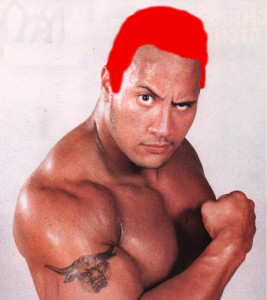The Rock with Red Hair
