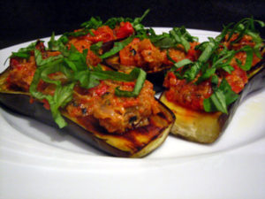Eggplant Caponata on Eggplant