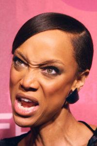 Tyra Banks angry