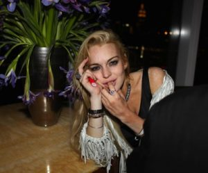 Lindsay Lohan Wasted Sucking on Finger