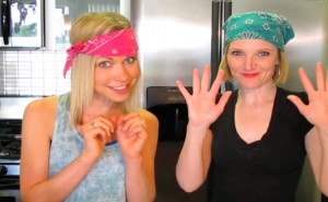 GiGi Dubois and Tara Redfield in the kitchen