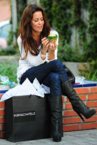 Brooke Burke Eating a Crumbs Cupcake