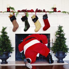 Santa Falling Down Chimney
