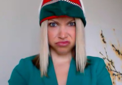 GiGi is one sad elf now that the holiday season is over