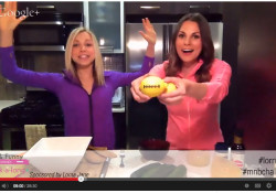 A lemon football, Whitney and GiGi