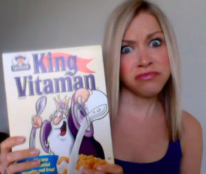 GiGi with General Mills King Vitamin