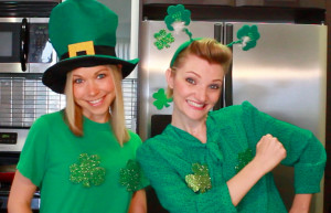 GiGi and Tara celebrate St. Patrick's Day