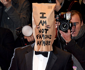 Shia LeBeouf, I am not famous paper bag