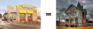 McDonald's Restaurants are haunted houses