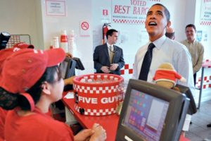 Obama ordering fast food