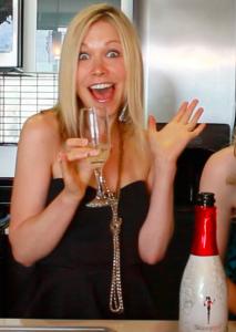 GiGi drinking Skinny Girl Cocktails