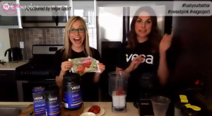 Whitney and GiGi make Vega Smoothies