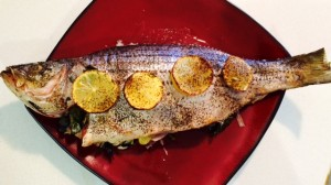 Baked Striped Bass