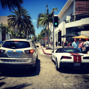 Chevy Traverse and Corvette