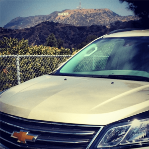 Hollywood Sign and Chevy Traverse