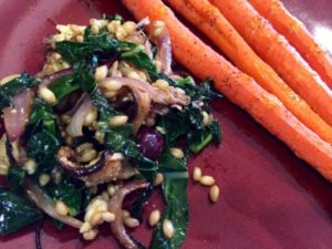 Wheatberry and Kale Salad