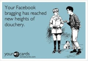 Bragging on Facebook