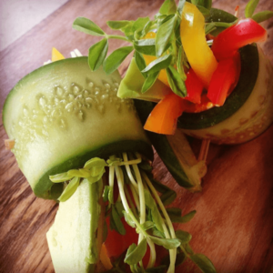 Raw Cucumber Rolls