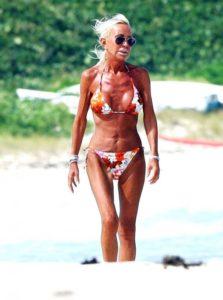 Donatella Versace in bikini