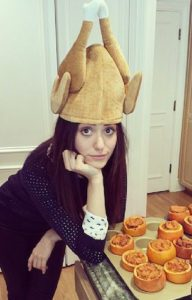 Emmy Rossum turkey hat