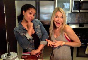 GiGi and Vianessa in the kitchen