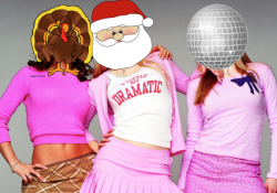Regina, Gretchen and Karen of Mean Girls as Christmas, New Year's Eve and Thanksgiving