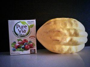 Pure Via Stevia and White Acorn Squash