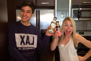 GiGi and Arman cheers Walden Farms Zero Calorie Maple Syrup and Ranch Dressing