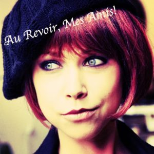 Au Revoir Mes Amis, GiGi Dubois as a red headed French girl, oh wait, she is French!