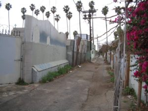 Sketchy Alleyway off Hollywood Blvd