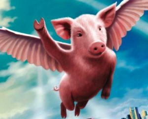Pigs flying!