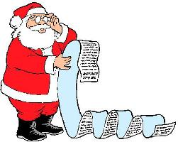 Santa and his list