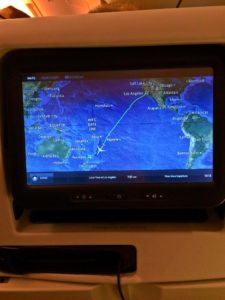Almost in Auckland on Air New Zealand
