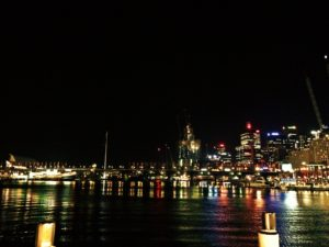 Darling Harbor at Night in Sydney