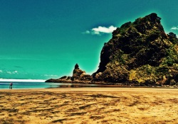 Piha Beach Rock