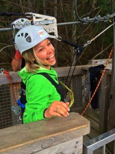Way too much fun Ziplining
