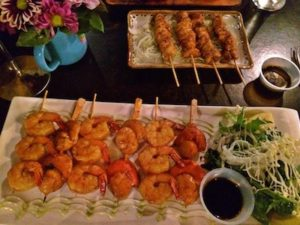 Seafood Chicken Skewers