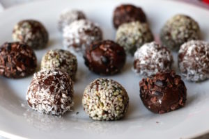Healthy Chocolate Truffles with  Hemp Seeds, No Bake, Manitoba Harvest