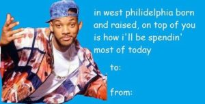 Will Smith Fresh Price of Bel Air Valentine's Day Card
