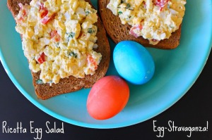 Egg salad with ricotta cheese
