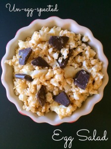 Sweet Egg Salad with Vanilla Protein Powder and Chocolate