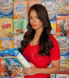 Vani Hari The Food Babe with Cereal