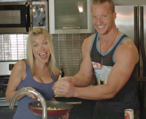 Brad Gouthro and GiGi Eats in the kitchen