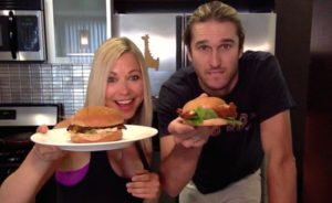 Chick-Fil-A-Spicy-Deluxe-Sandwich-GiGi-Eats-Celebrities Landon Ashworth GiGi Dubois compare sandwiches