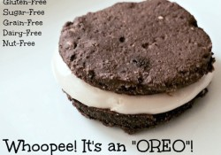 Oreo cookie - homemade and sugar free
