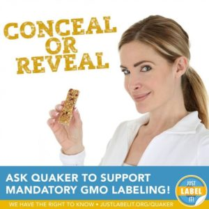 Ask Quaker to reveal GMos!